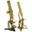 2 English Brass Compound Microscopes, c. 1860