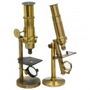 2 Brass Compound Microscopes, c. 1870