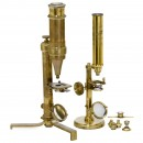 2 Early Brass Compound Microscopes