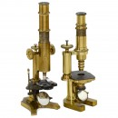 2 Interesting Brass Compound Microscopes
