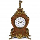 French Boulle Mantel Clock by Japy Frères, 19th Century