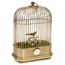 Miniature Singing Bird Cage with Timepiece by Reuge Music