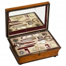 French Musical Sewing Necessaire, c. 1850
