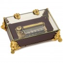Swiss Reuge Musical Box in Crystal Case