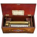 Unusual Hidden Drum and Piccolo Musical Box by Ducommun-Girod, c