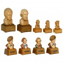 9 Anri Musical Busts with Reuge Movements