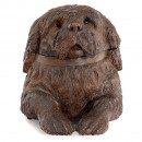 Carved Musical St. Bernard Dog by Huggler, c. 1920