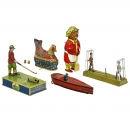 5 Lithographed Tin Toys, 1925 onwards