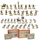 4 Boxed Groups of Tin Soldiers, 1900 onwards