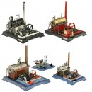 4 Wilesco Steam Engines