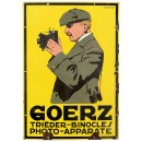 Goerz Enamel Advertising Sign, c. 1915