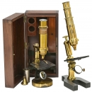 2 French Compound Microscopes
