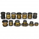 13 Brass Lenses with Short Focal Lengths