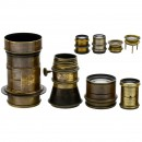 8 Brass Lenses and Magnifying Glasses