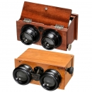 2 Hand Stereo Viewers (6 x 13 and 45 x 107), c. 1915