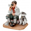 Boy with Dog and Stereoscope, c. 1980