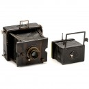 Liliput 6,5 x 9 and Klapp-Camera 9 x 12 by Ernemann