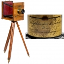 French Field Camera 13 x 18 with Voigtländer Lens, c. 1880