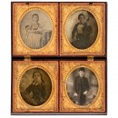 Union Case with 4 Ambrotypes, c. 1855