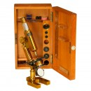 German Compound Microscope by Messter, 1899