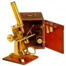 Pillischer Compound Brass Microscope, c. 1860