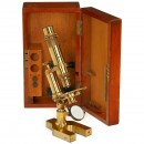 English Compound Microscope by Henry Crouch, c. 1870