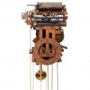 Wooden Gear Clock with Musical Movement