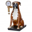 Dog Figure with Mysterieuse Clock
