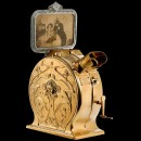 Early German Cast-Iron Art-Nouveau Style Mutoscope, c. 1900