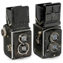 2 Early Rolleiflex 6 x 6 TLR Cameras