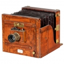 Stereo/Mono Tailboard Camera by Watson & Sons, c. 1890