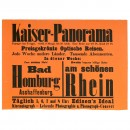 Original Advertising Poster Kaiser-Panorama, c. 1895