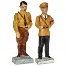 2 Lineol Third Reich Personality Figures, c. 1938