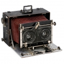 Stereo Folding Plate Camera 9 x 14 by Voigtländer, 1905