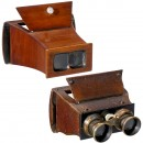 2 Hand-Held Stereo Viewers 9 x 18 cm