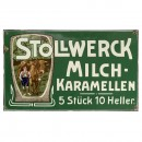 Stollwerck Enamel Advertising Sign, c. 1910