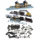Bing Train Set with Station Building and further Accessories, c.