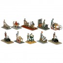 10 Figural Steam and Tin Toys, 1930-1950