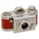 Rare Subminiature Camera Jolly in Red, 1950