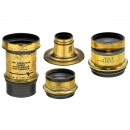 4 Brass Lenses from England