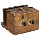 French Stereo Wet-Plate Sliding Box Camera with early Vallantin