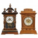 2 Mantel Clocks with Musical Movements, c. 1910