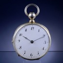 Rare Musical Repeating Silver Pocket Watch with Cylinder Movemen