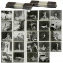 24 Nude Stereo Glass Slides, c. 1900-1910