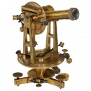 French Brass Theodolite by Brunner, c. 1880