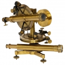 French Brass Theodolite by Brunner, c. 1870