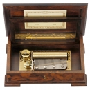 Romance CH 3/50 Musical Box by Reuge Music with Strauss Program,