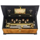 Large Harp Piccolo Musical Box with Bells, c. 1885