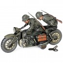 Kellermann Military Motorbike with Pillion No. 357, c. 1935
