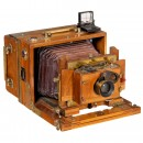 French Folding-Plate Camera, c. 1880
